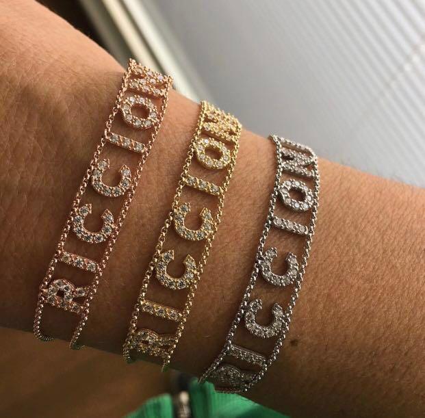 Italian Customised Name Bracelet