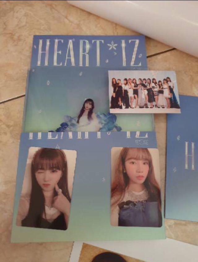 IZ*ONE Heart*iz Album [Saphire Edition] (First Press + Poster)