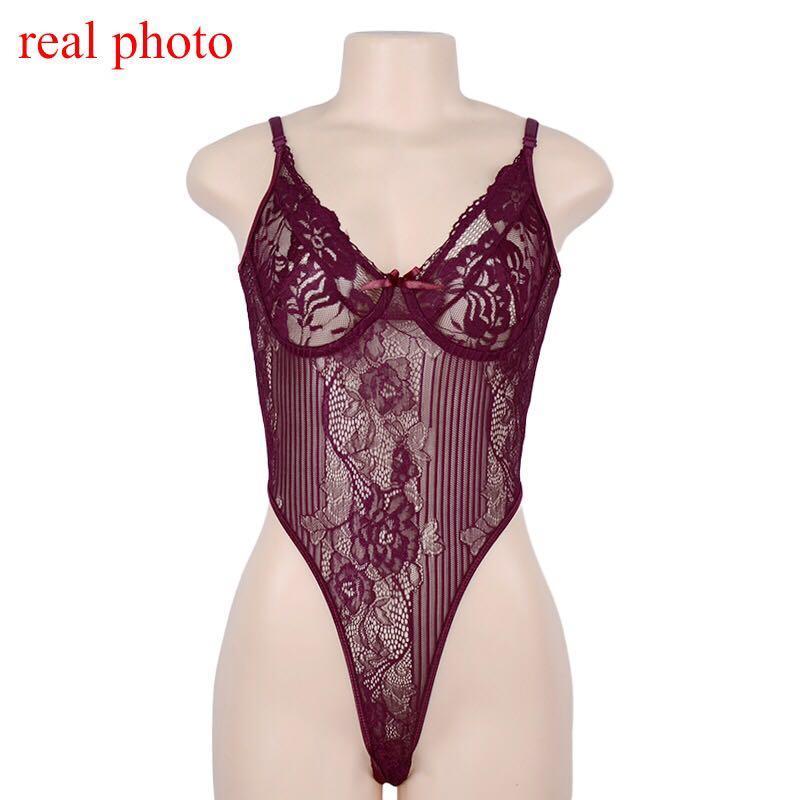 Louis Sheer Lace Bodysuit