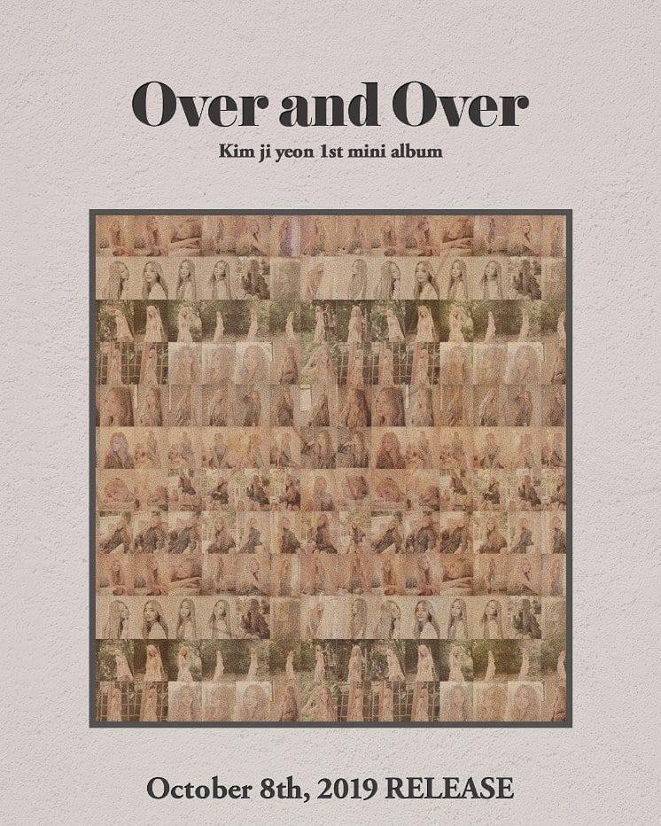 Lovelyz kei, kim ji yeon 1st mini album : over and over