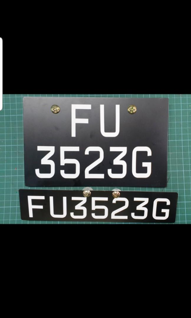 Motorbike License Plate Maker Aluminium Acrylic LTA approver License plate