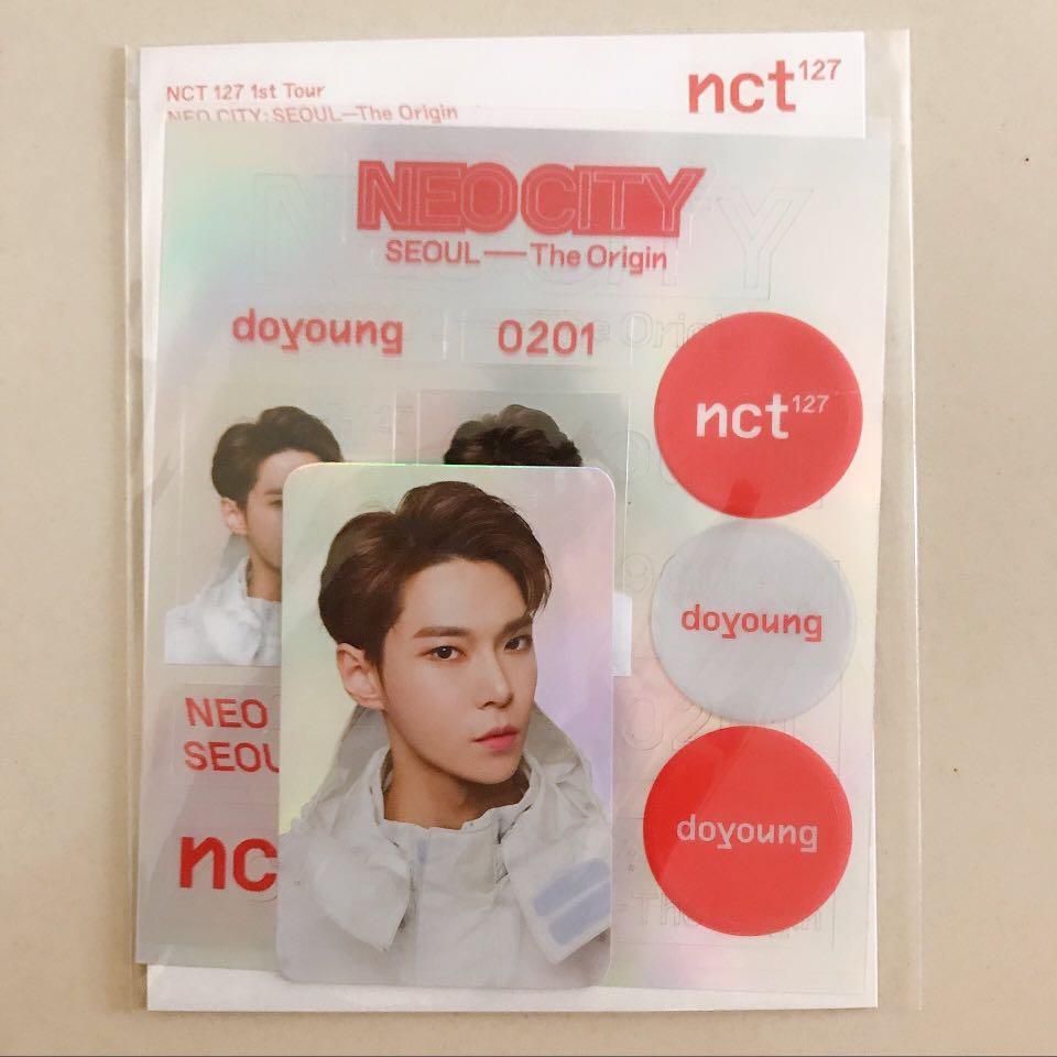 NCT Doyoung Neo City Hologram photocard & sticker set