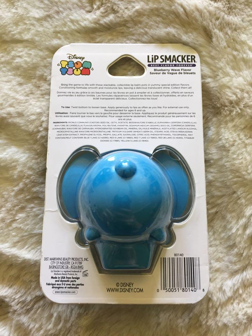 NEW Lip Smacker Tsum Tsum - Stitch from Lilo and Stitch - Blueberry Lip Balm