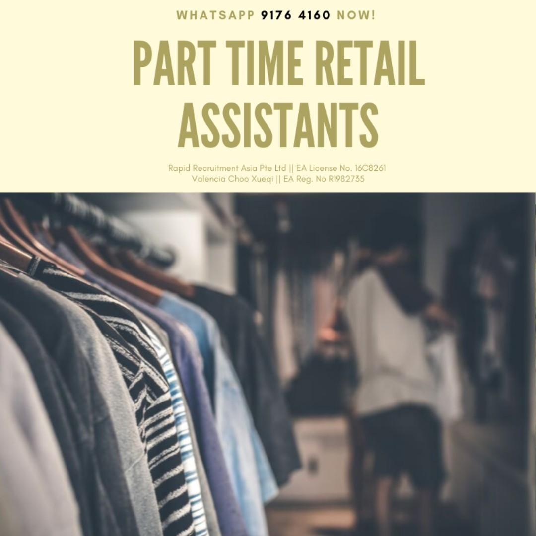 Part Time Retail Assistant @ Central/East
