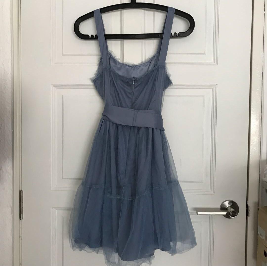 Powder blue baby doll dress