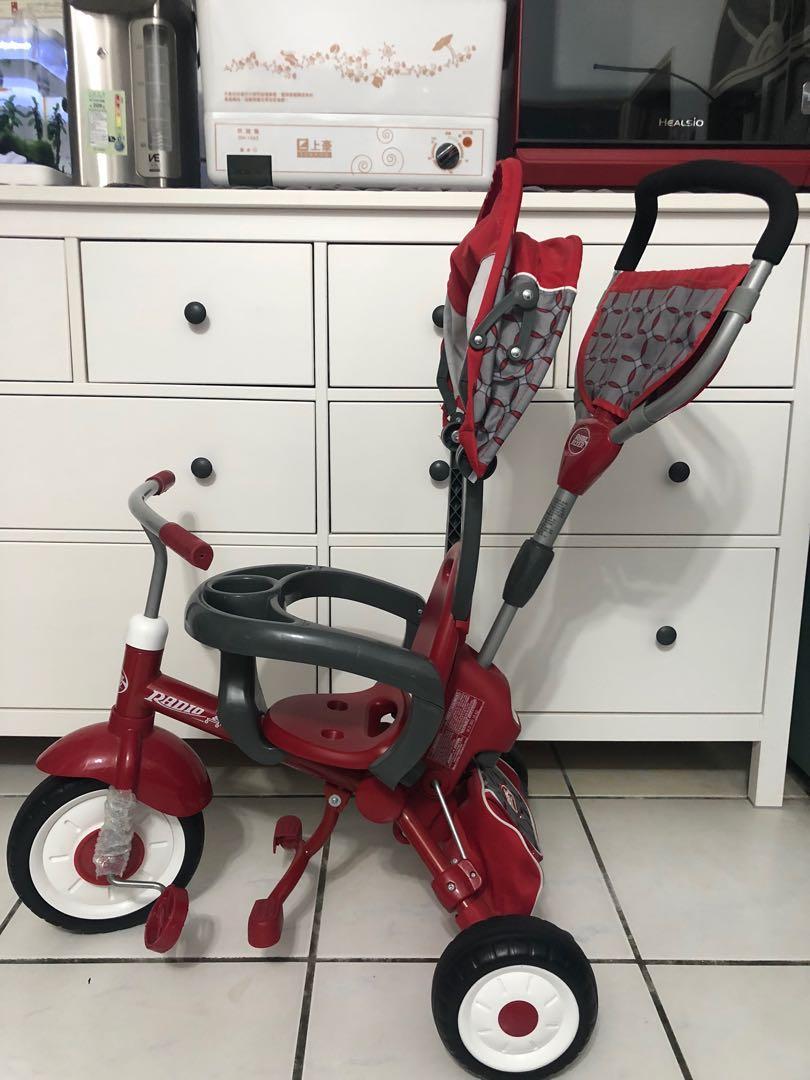 美國RadioFlyer紅爵士四合一摺疊三輪推車