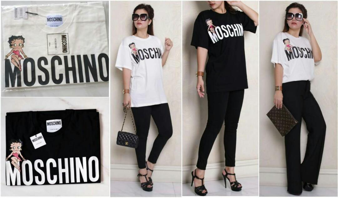 *Ready moschino tshirt oversized BETTY BOOP black & white* XXS XS S