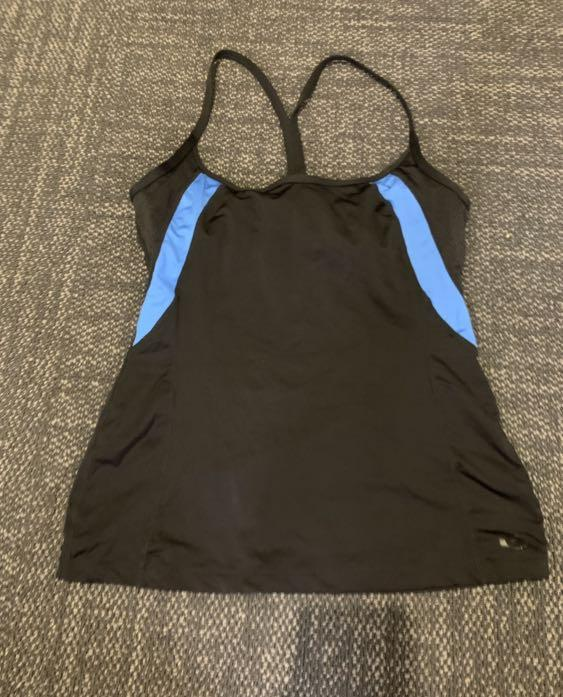 Rip curl tank top blue and black - for exercise or swimming