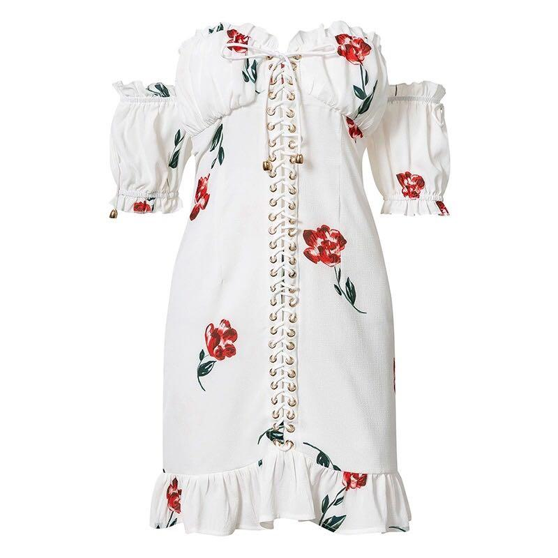 Sandra Lace Up Bodycon Dress