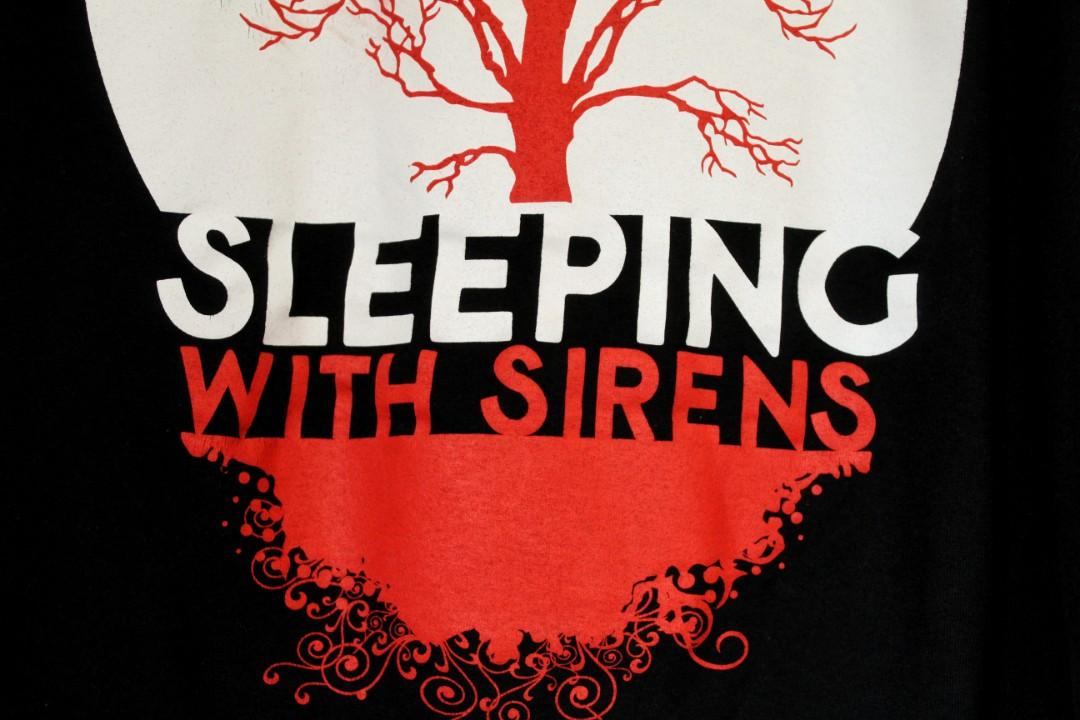 SLEEPING WITH SIRENS • GRAPHIC BAND TEE •'WITH EARS TO SEE AND EYES TO HEAR' ERA