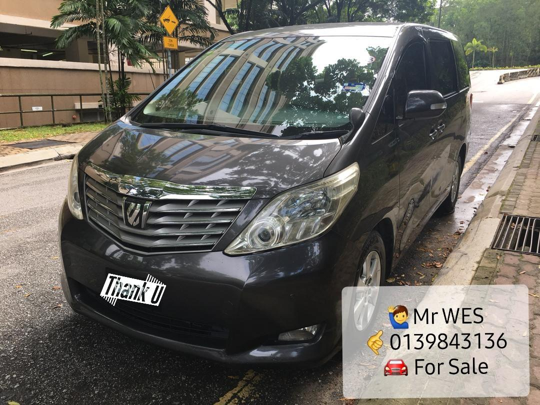 TOYOTA ALPHARD 240G - 2009th/Reg 2014 (A) Special Offer Lowest Price in KL