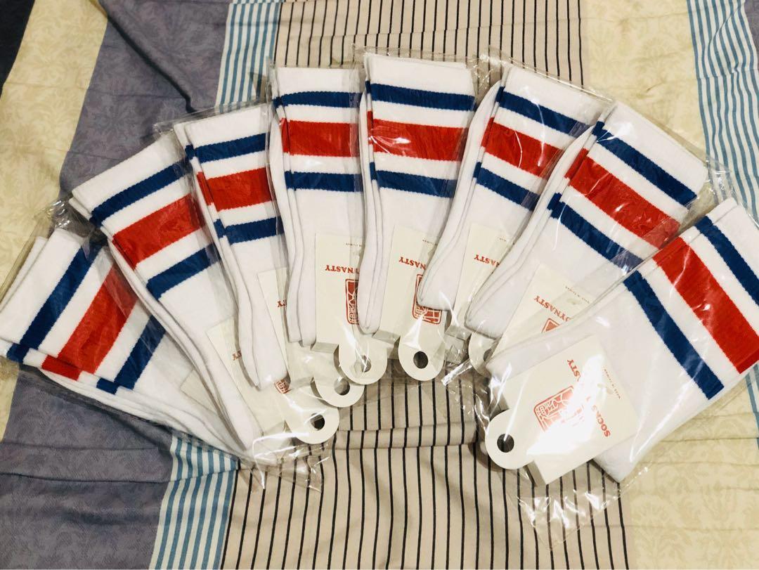 「TSK Collection 」Socks 復古學院必備 條紋款 白底藍紅 法國色