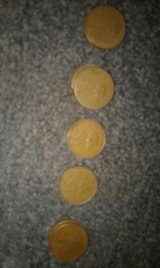 Duit syiling 1 ringgit malaysia 1993 ada 10 syilling