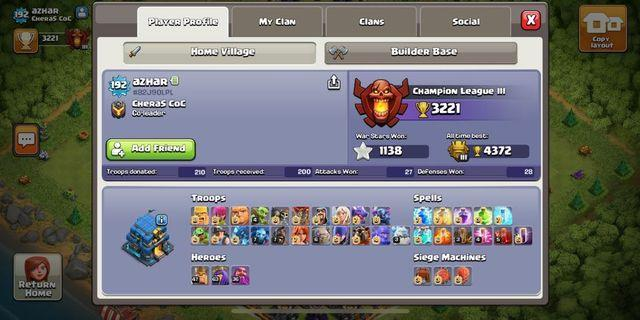 Clash of clan account th12