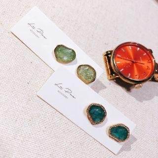 全新925純銀針耳環 (2色)