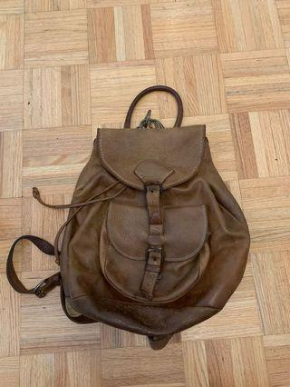 Authentic Roots Vintage Leather Backpack - Brown