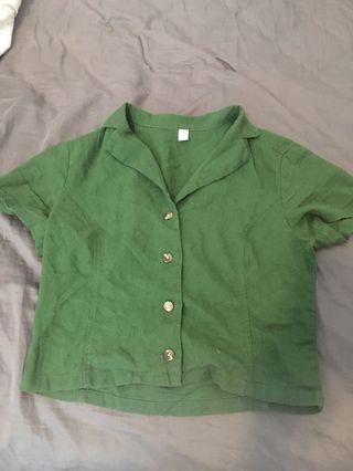 XS green blouse - Nordstrom
