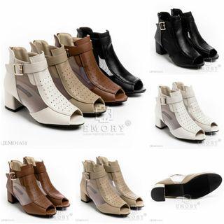 #E M O R Y   Samantha. Series Colours : Black, Brown, Beige, Apricot. Insole : 36 : 22.5 cm 37 : 23 cm 38 : 23.5 cm 39 : 24 cm 40 : 24.5 cm Heels : 7 cm ORIGINAL Brand.