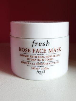 Fresh Rose Face Mask - Hydrates and Tones Skin
