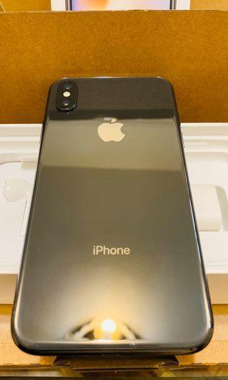 (自售) IPhone X 太空灰 64GB 配件全新 外觀極新 購物證明齊全 軟體:IOS 12