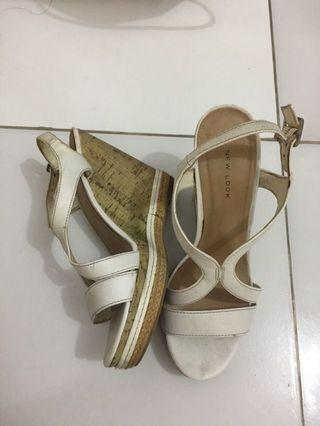 New Look White Wedges size 38