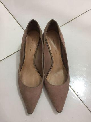 Charles And Keith Nude Heels size 38