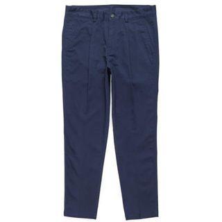 Plain me 彈性棉質打摺長褲 深藍色S號 COP1627 經典褲款COP1616春夏延伸版本 plain-me