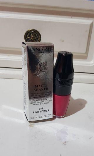 Lancome Matte Shaker Liquid Lipstick Shade #378 Pink Powder (HARGA BELI 430,000)