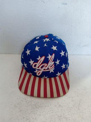 DGK Dirty Ghetto Kids by Yupoong Snapback American Flag