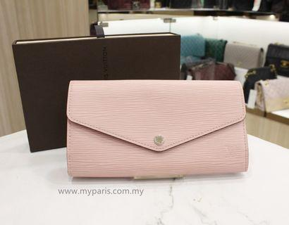 Louis Vuitton Rose Ballerine Epi Leather Sarah Wallet
