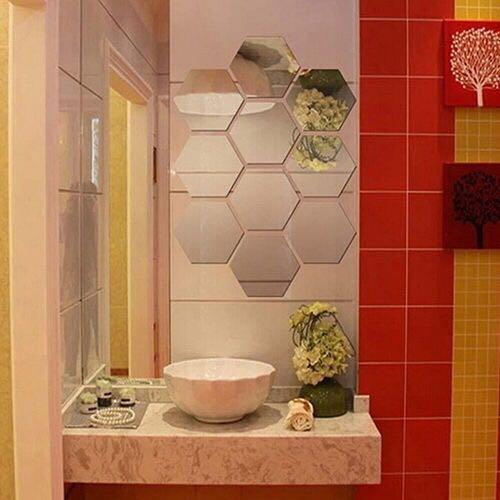 12 Pcs 3D Mirror Hexagon #winiphone11pro