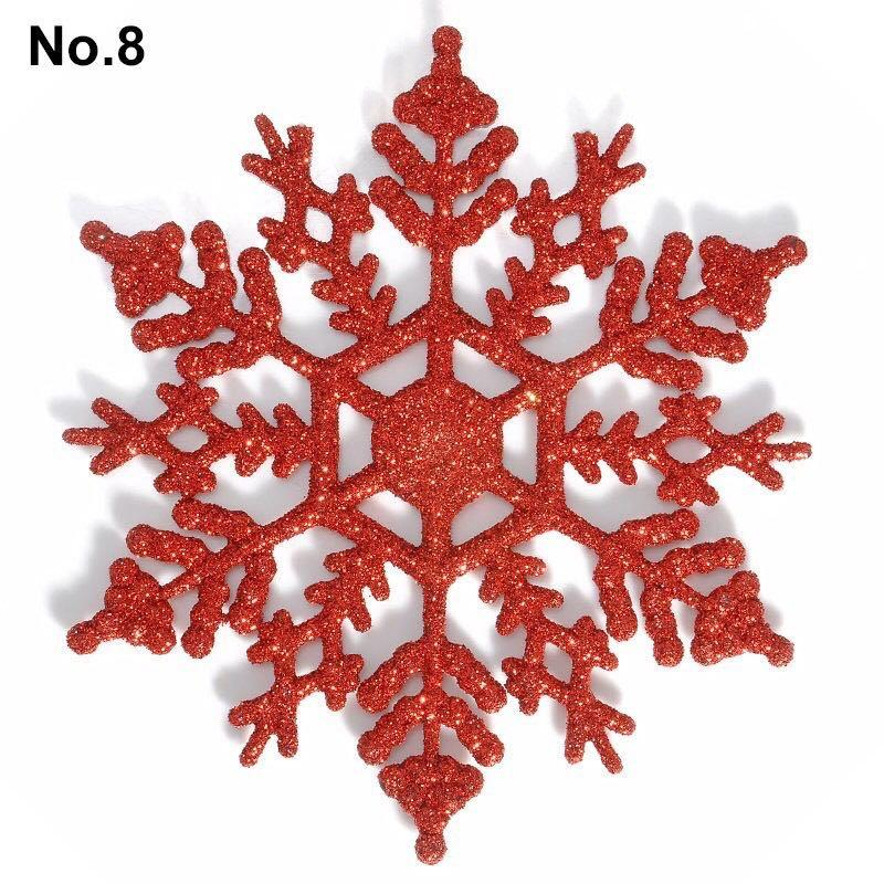 12 pcs - Snowflakes decor
