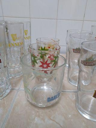 Glass - darlie, anchor, guinness, kilkenny