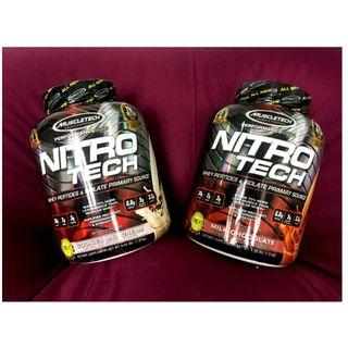 NitroTech 100% Whey Supplement 70% BETTER Protein Muscle Tech 4lbs 1.8 kg