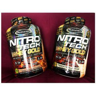 NitroTech 10% EXTRA FREE 100% Gold Whey Supplement  Protein Muscle Tech 5.53 lbs  2.51kg