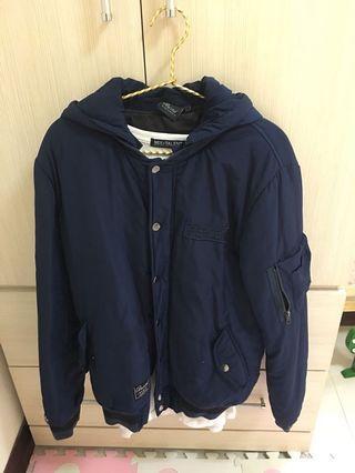 潮牌藍外套