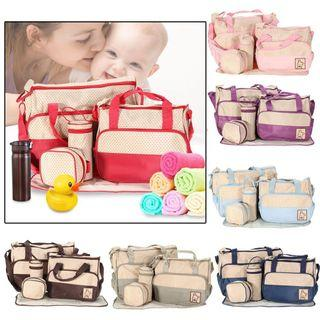 Mommy baby diaper bag 5in1