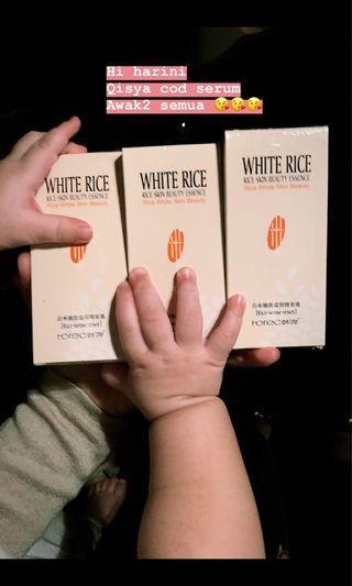 White rice serum