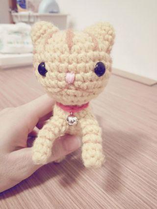 針織小橘貓