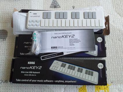 全新KORG NANOKEY2 MIDI鍵盤 非合成器電子琴電子鼓 行進大鼓小山葉羅蘭YAMAHA ROLAND