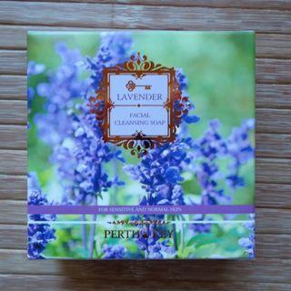 (全新)專櫃天然品牌柏司金薰衣草胺基酸洗臉皂