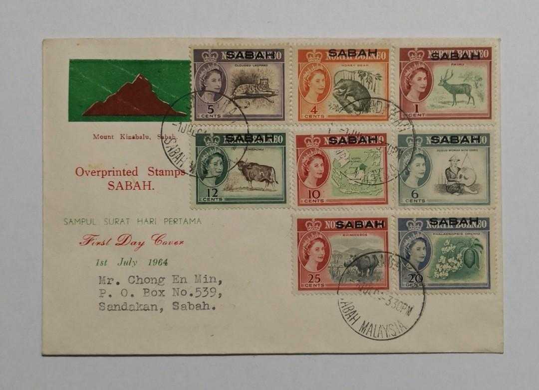 1964 Sabah Stamps on cover