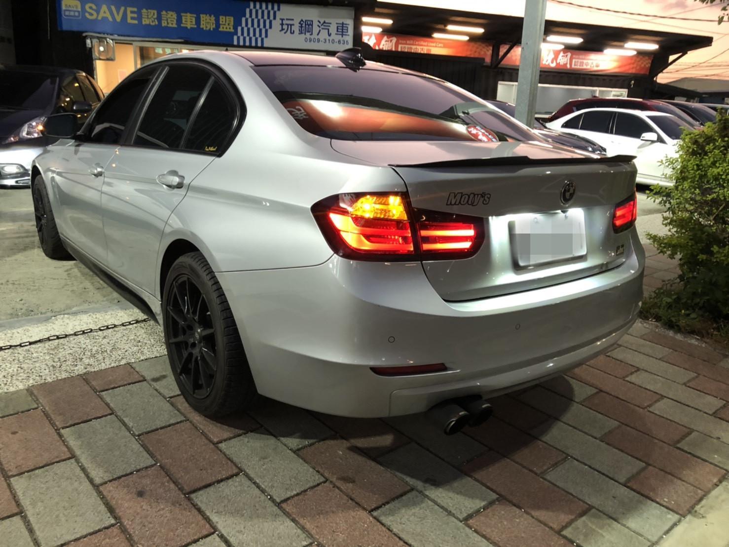 2013年  BMW316 銀 1.6 跑9萬 熱門車中古車二手車