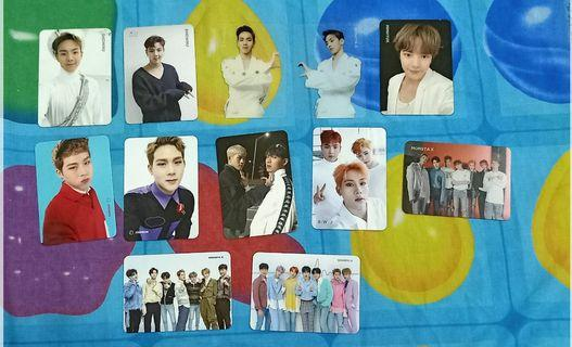 WTS MONSTA X official photocards