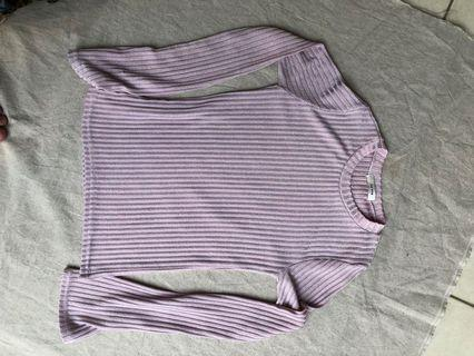 PINK KOREAN KNIT SHEER LONGSLEEVES