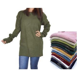 Sweater Atasan Basic Simple Polos Big Size Bigsize Hijab Baju Jumbo