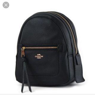 正品 Coach 黑色 小後背包  雙肩包 側背包 2用包