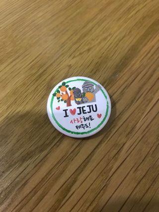 I ❤️ Jeju badge