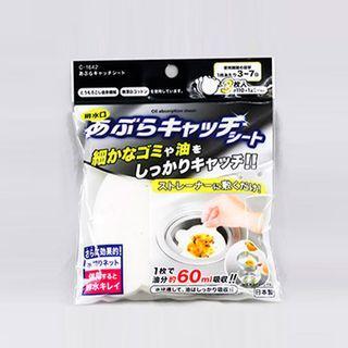 日本不動化學 廚房排水口用濾油汙紙-小熊造型(3入/袋)