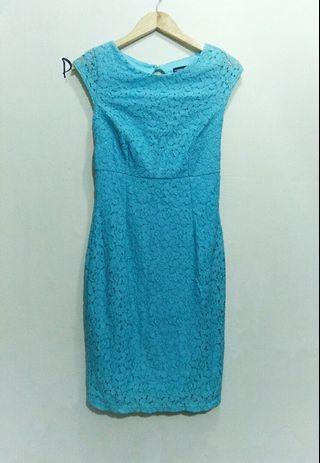 Warehouse,  Blue lace Dress